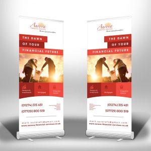 HM Designs roller banner design